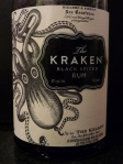 Bottle of Kraken black spiced rum