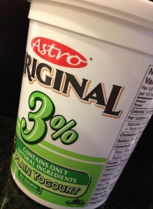 Astro 3% plain yogurt